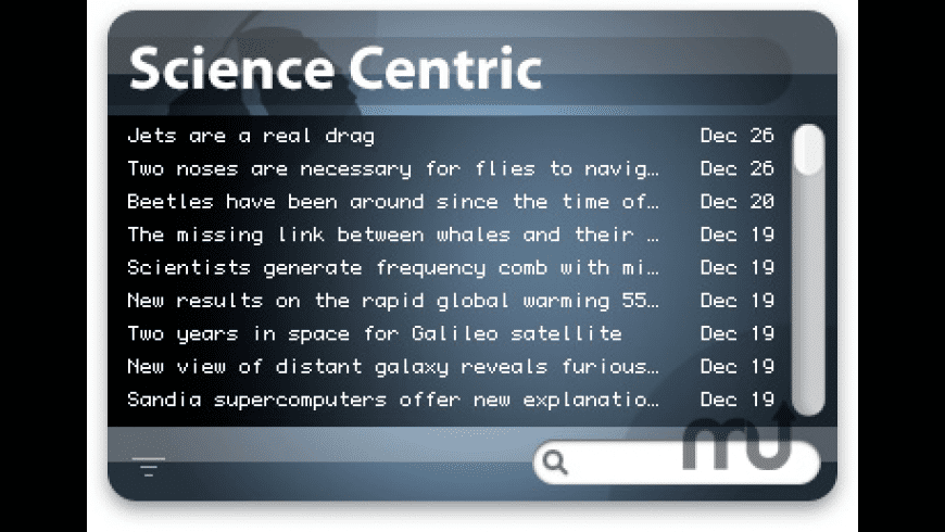 Science Centric Widget for Mac - review, screenshots