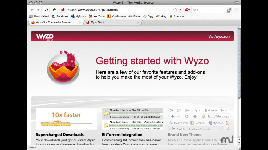 Wyzo for Mac - review, screenshots