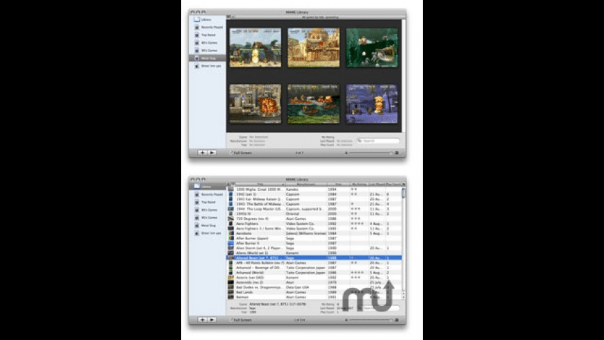 MAME Library for Mac - review, screenshots