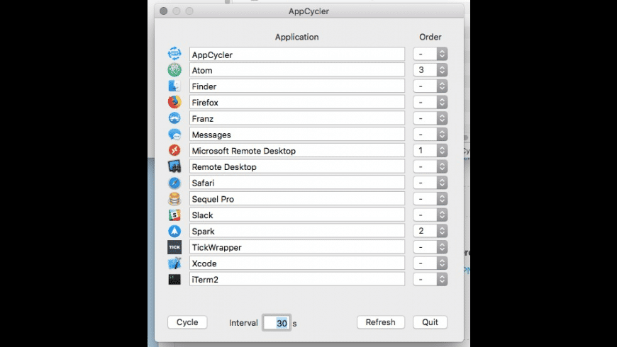 AppCycler for Mac - review, screenshots