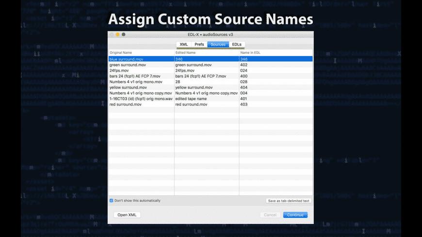 EDL-X for Mac - review, screenshots