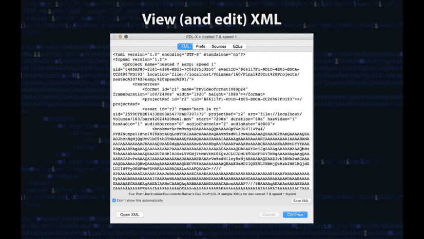 EDL-X for Mac - review, screenshots