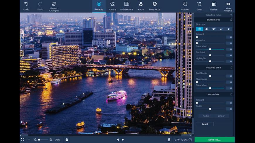 Movavi Photo Focus for Mac - review, screenshots