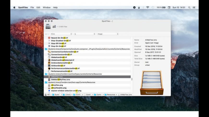 SpotFiles for Mac - review, screenshots