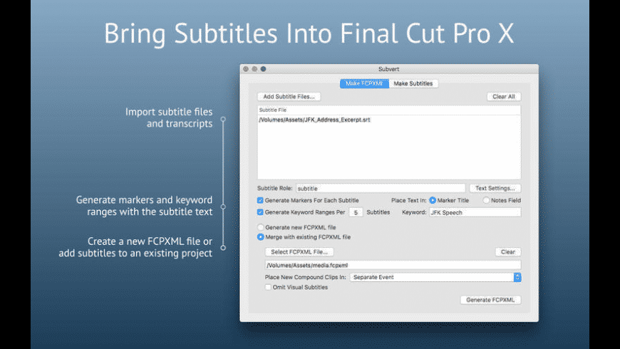 Subvert for Mac - review, screenshots