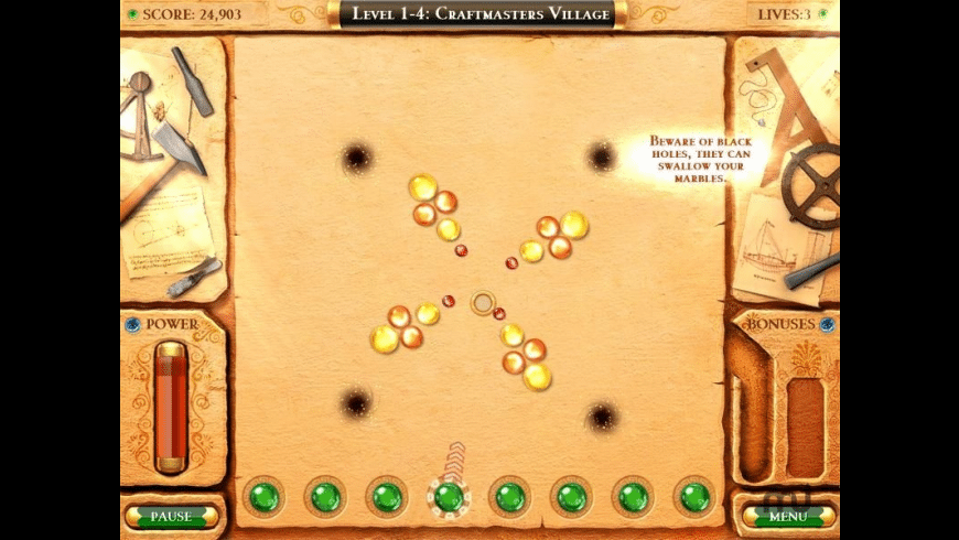 Mythic Marbles for Mac - review, screenshots