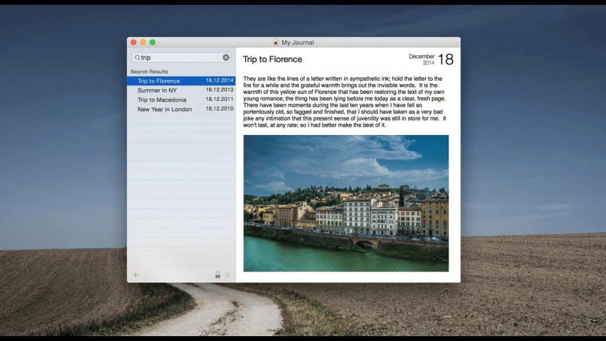 Memoires for Mac - review, screenshots