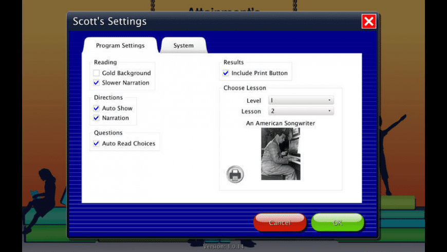 Developing Reading Fluency for Mac - review, screenshots