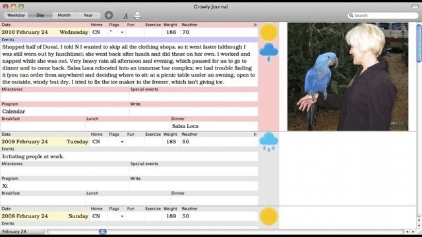 Growly Journal for Mac - review, screenshots