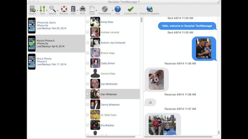 Decipher TextMessage for Mac - review, screenshots