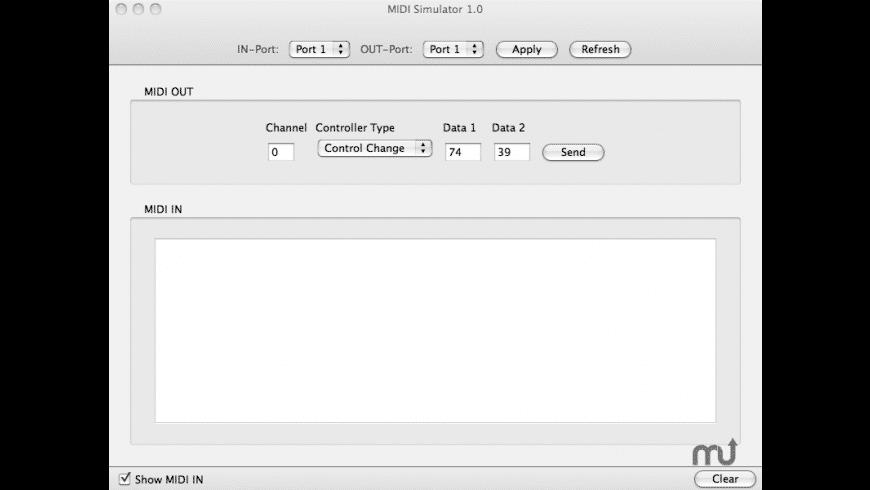 MidiSimulator for Mac - review, screenshots