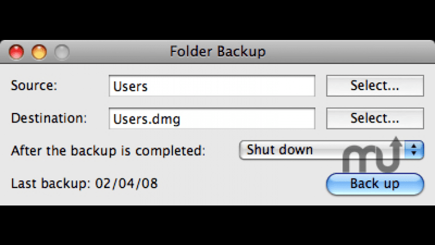 Folder Backup for Mac - review, screenshots