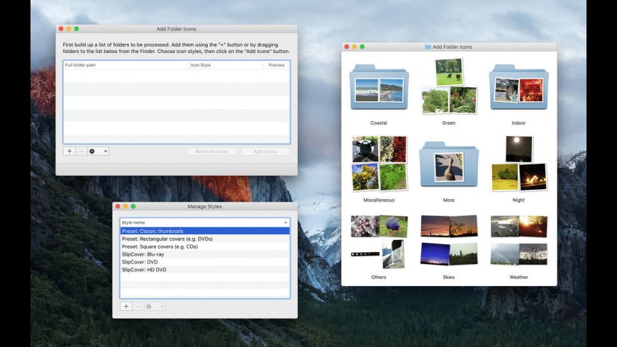 Add Folder Icons for Mac - review, screenshots