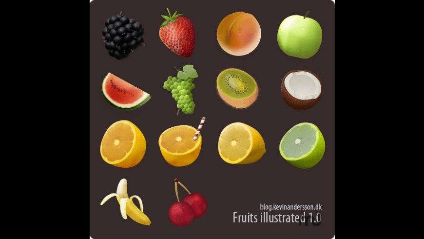 Fruits Illustrated for Mac - review, screenshots