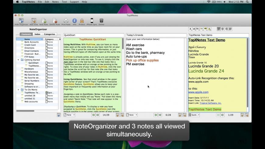 TopXNotes for Mac - review, screenshots