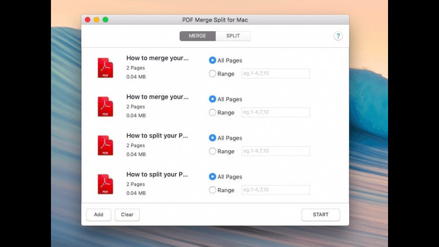 PDF Merge Split for Mac - review, screenshots