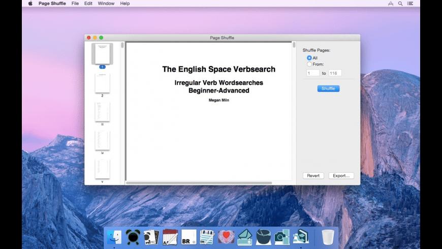 Page Shuffle for Mac - review, screenshots