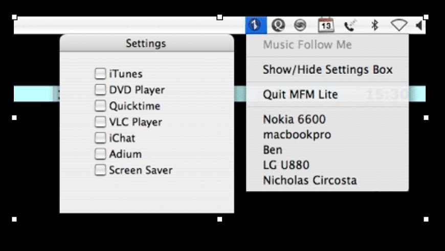 Music Follow Me Lite for Mac - review, screenshots