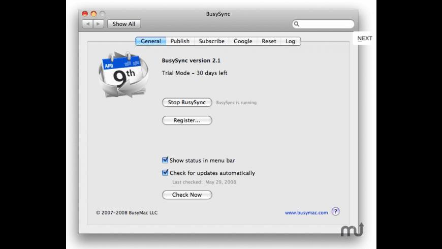 BusySync for Mac - review, screenshots