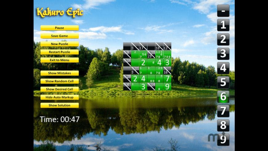 Kakuro Epic for Mac - review, screenshots