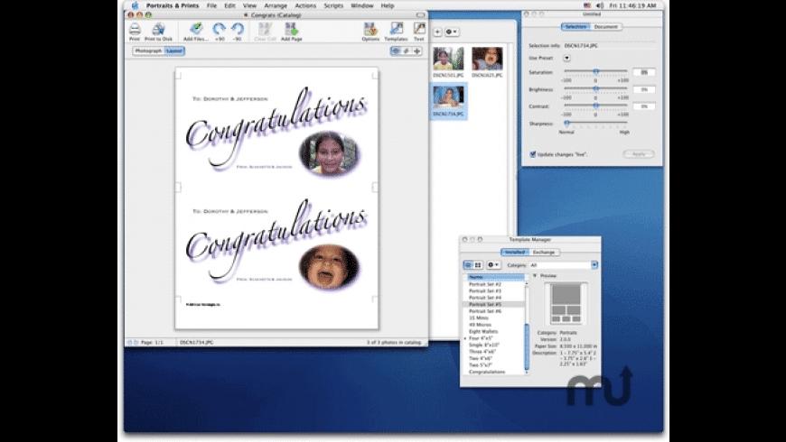 Portraits & Prints for Mac - review, screenshots