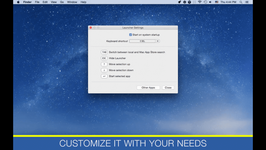 Lаuncher for Mac - review, screenshots