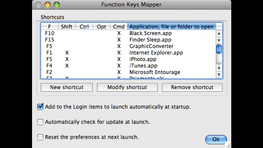 Function Keys Mapper for Mac - review, screenshots