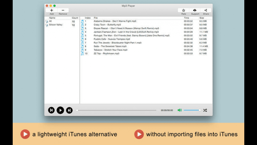 Mp3 Player for Mac - review, screenshots