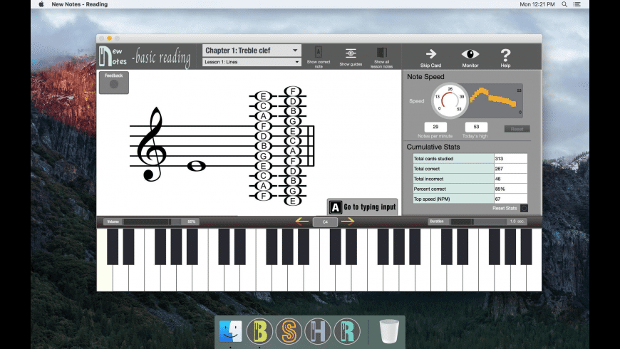New Notes - Basic Reading for Mac - review, screenshots