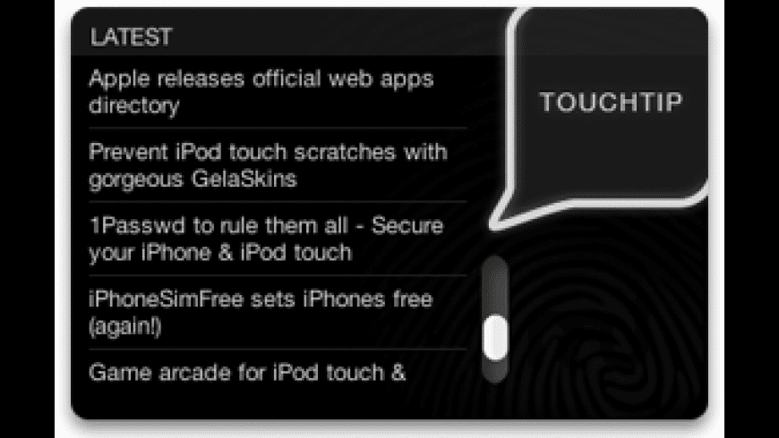 Touchtip for Mac - review, screenshots
