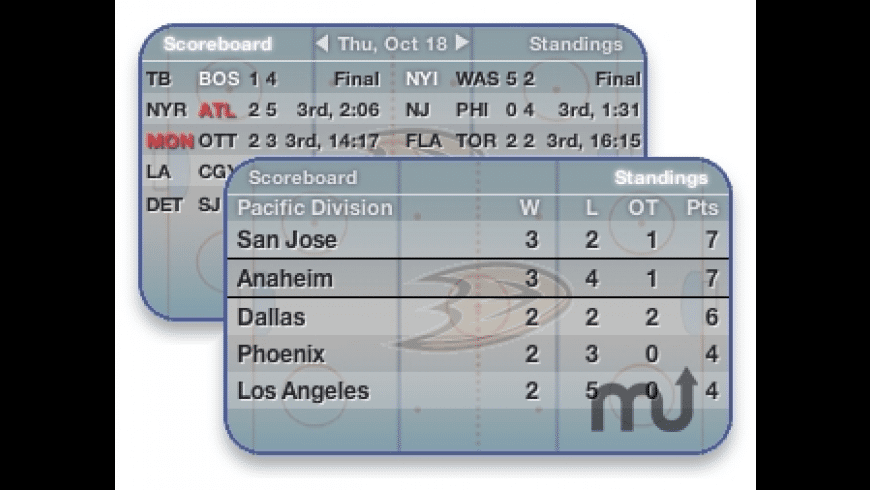 Hockey Widget for Mac - review, screenshots