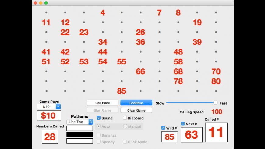 Bingo Caller Pro 90 for Mac - review, screenshots