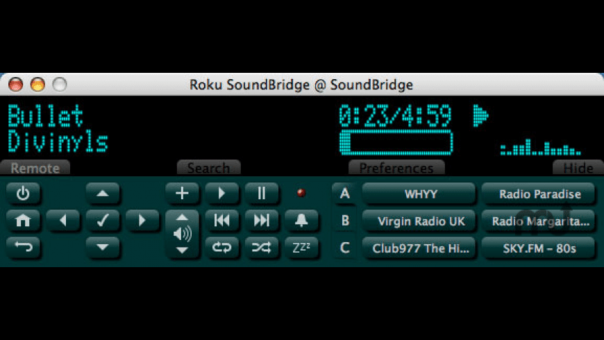 SoundBridge Commander for Mac - review, screenshots
