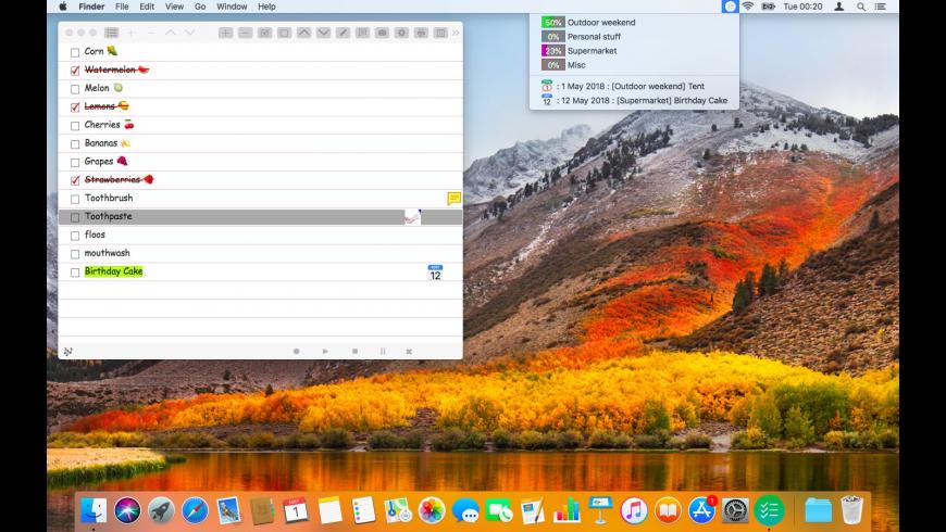 Make a List for Mac - review, screenshots