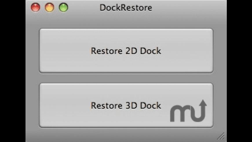 DockRestore for Mac - review, screenshots