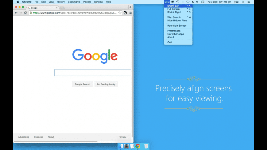 Split Screen for Mac - review, screenshots