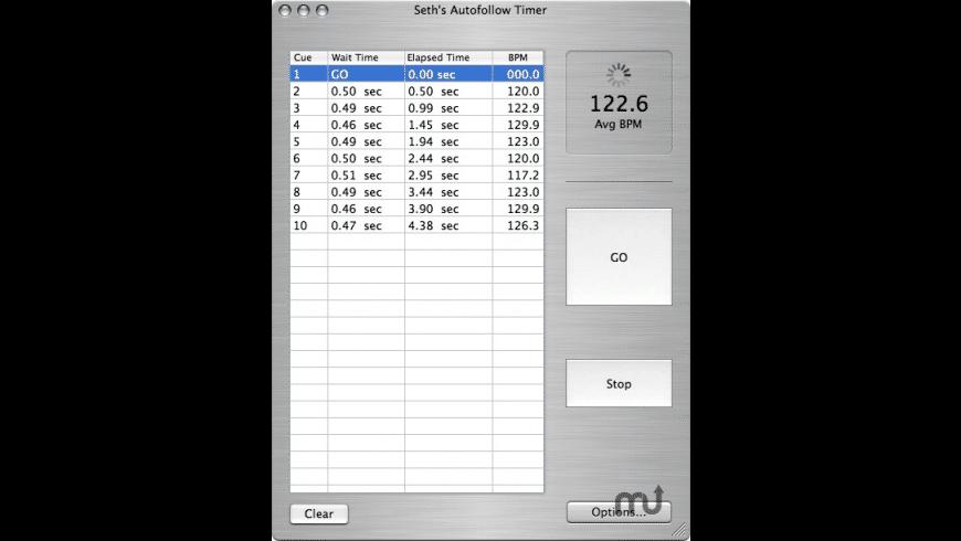 Seth's Autofollow Timer for Mac - review, screenshots