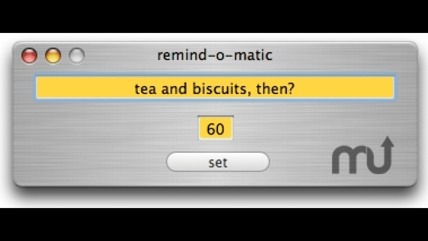 remind-o-matic for Mac - review, screenshots