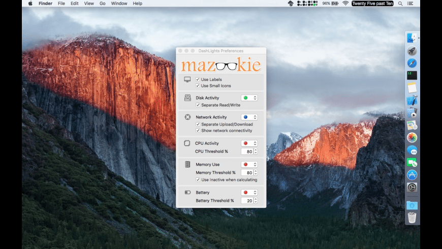 DashLights for Mac - review, screenshots
