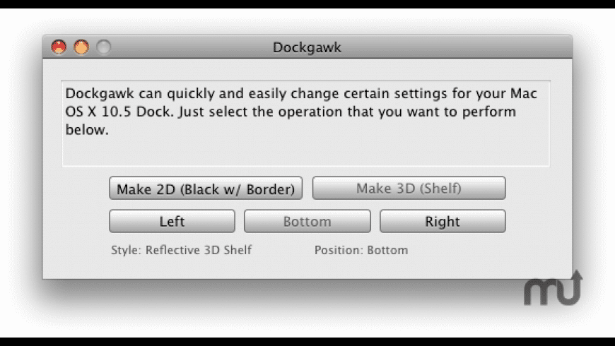 Dockgawk for Mac - review, screenshots