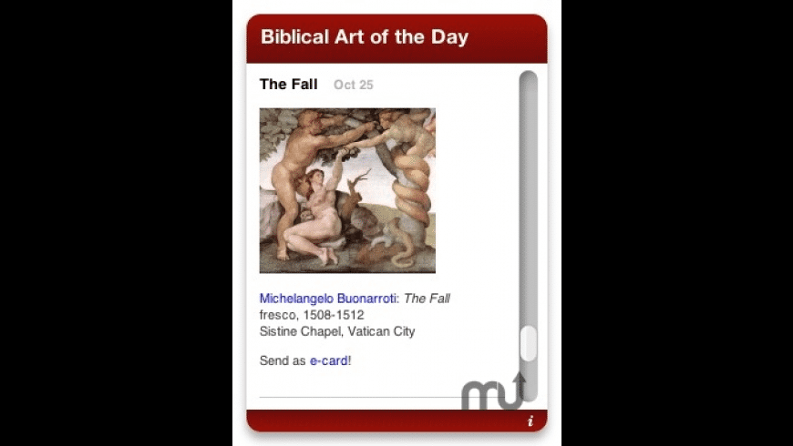 Daily Biblical Art for Mac - review, screenshots