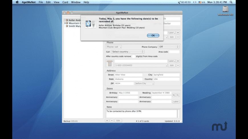 4getMeNot for Mac - review, screenshots