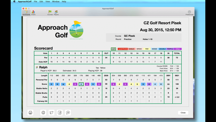 ApproachGolf for Mac - review, screenshots
