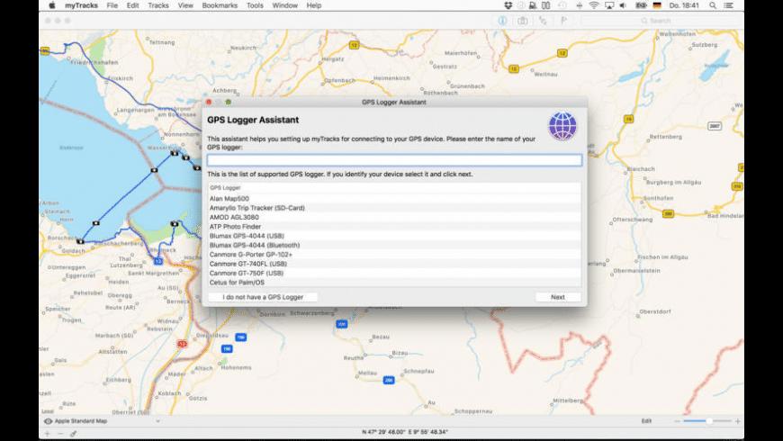 myTracks for Mac - review, screenshots