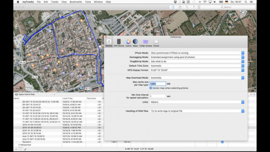myTracks for Mac - review, screenshots