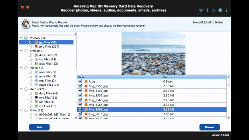 SD Memory Card Data Recovery for Mac - review, screenshots