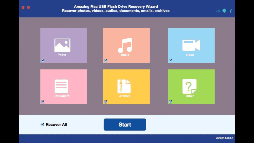 USB Flash Drive Recovery Wizard for Mac - review, screenshots