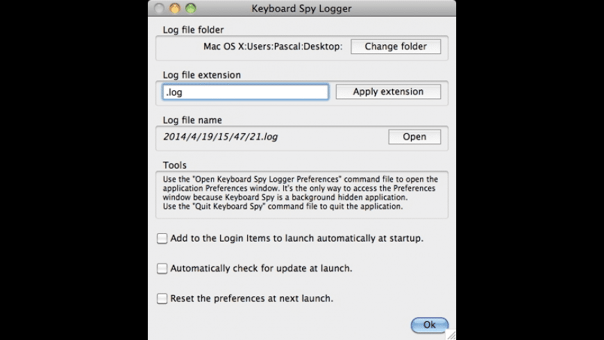 Keyboard Spy Logger for Mac - review, screenshots
