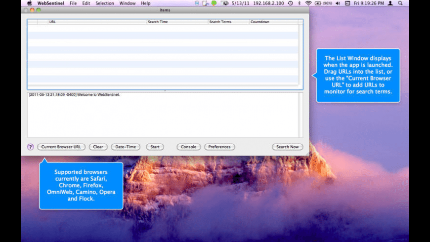 WebSentinel for Mac - review, screenshots
