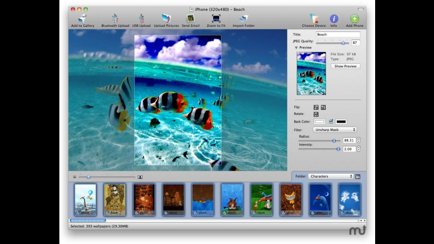 Phone Wallpaper X for Mac - review, screenshots